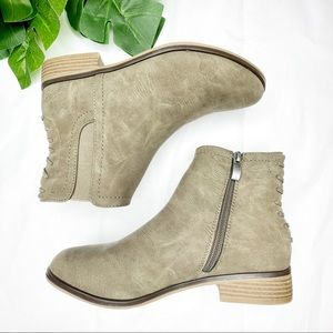 Lime light zip up ankle boots booties